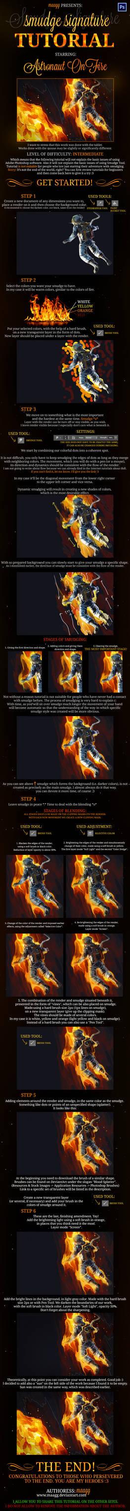 SMUDGE SIGNATURE TUTORIAL - Astronaut On Fire
