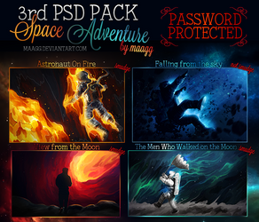 3rd PSD PACK - Space Adventure