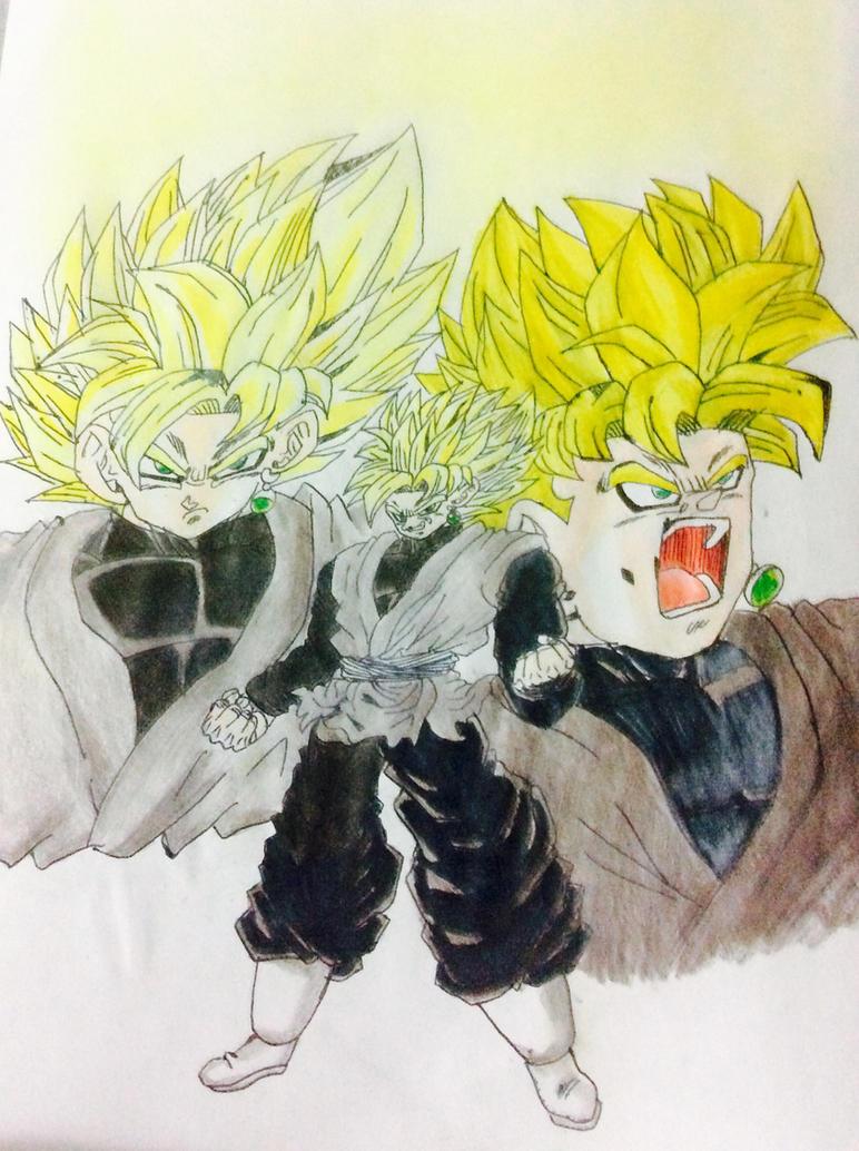 Black Goku ssj by Sohaiblebon