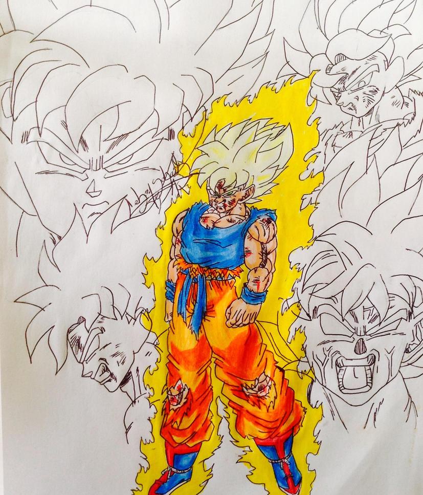 Gokussj saga Freeza dbz by Sohaiblebon