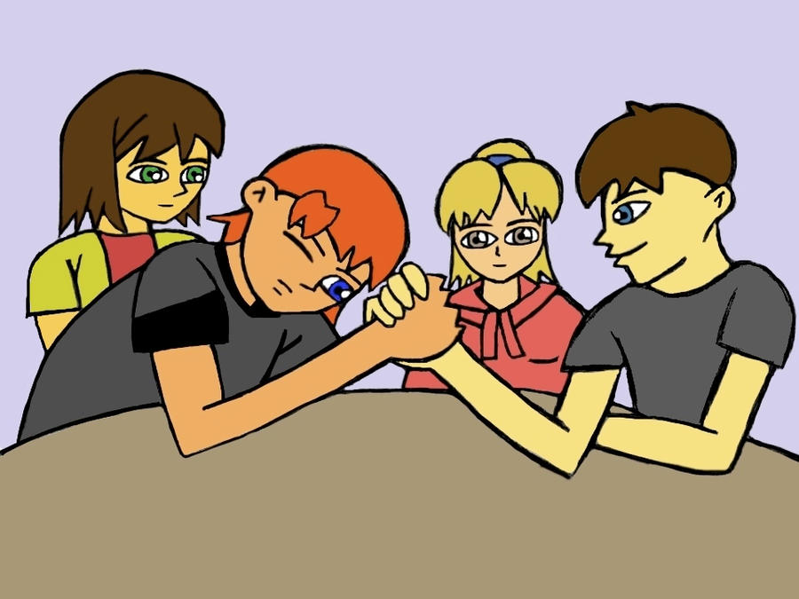 Arm Wrestling by RedPhoenix15