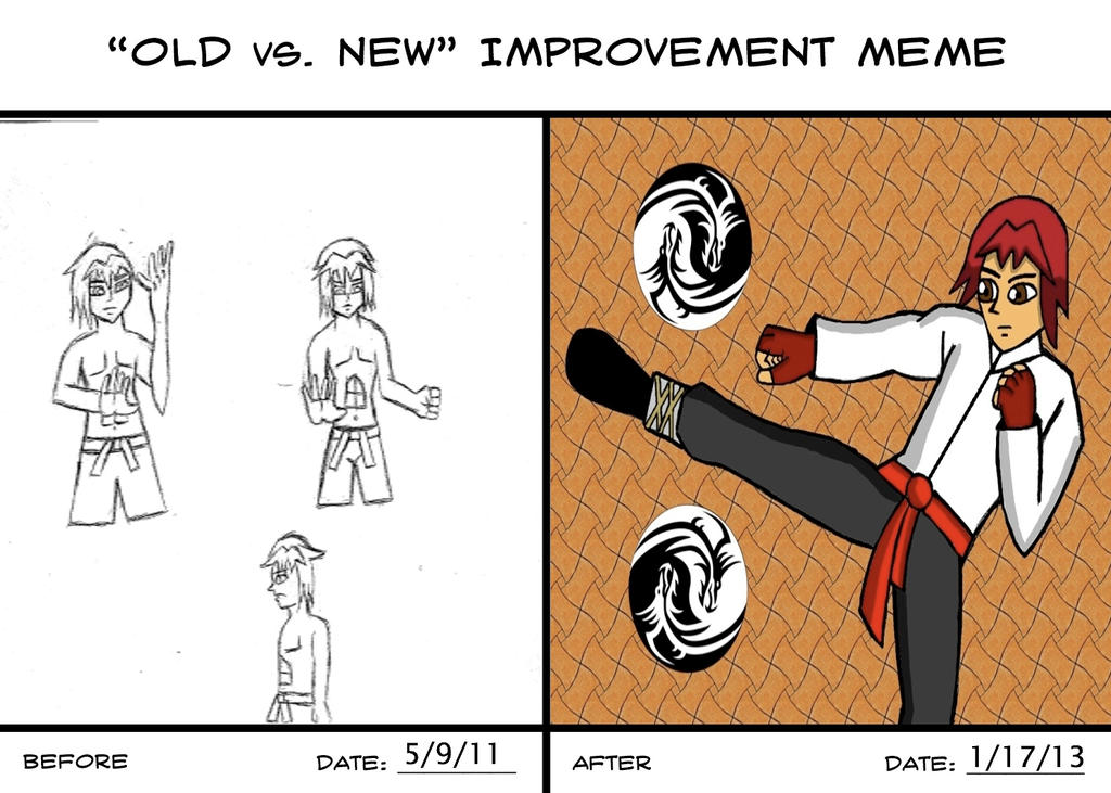 Old vs. New Meme: Ryo Takano by RedPhoenix15