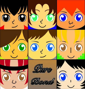 Pure Bond Square Face Icons
