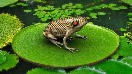 Poison Candy-cane Frog