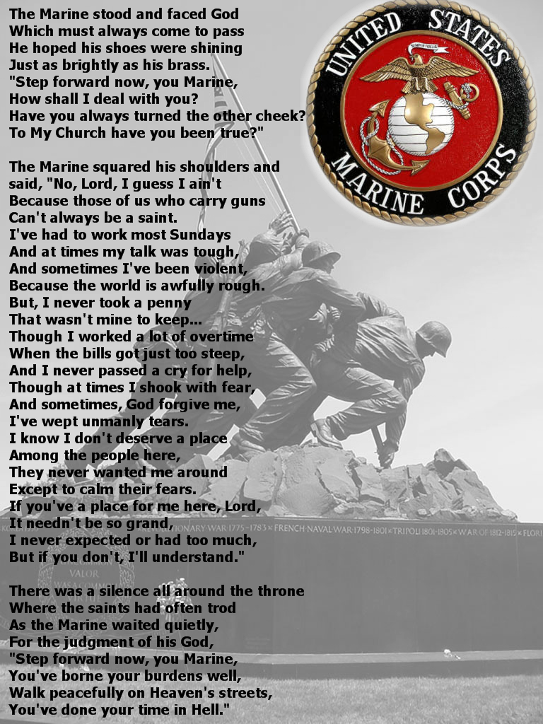 Marine Meets God by elesi
