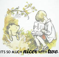 Winnie the Pooh - With Two by elesi