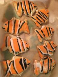 Clownfish Sugar Cookies