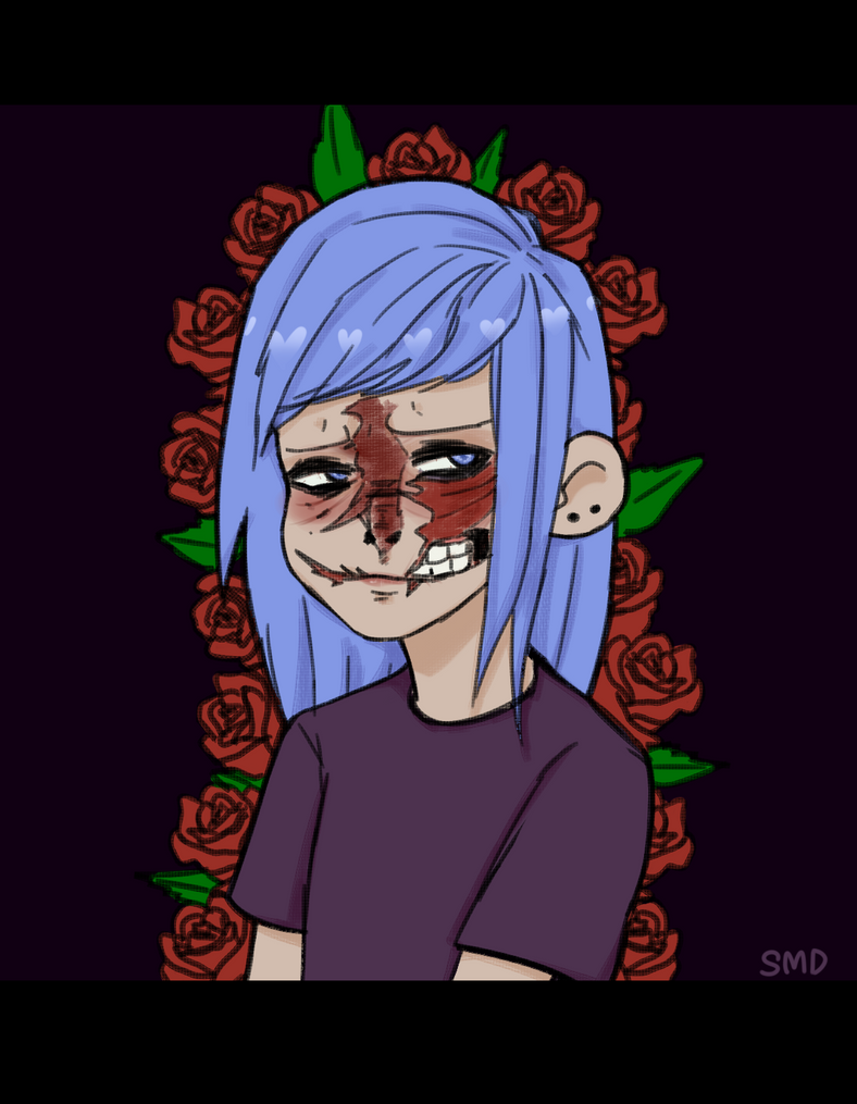 sally face larry deviantart fan game again fisher drawings drawing faces games арт name mask without салли фейс ларри creepy