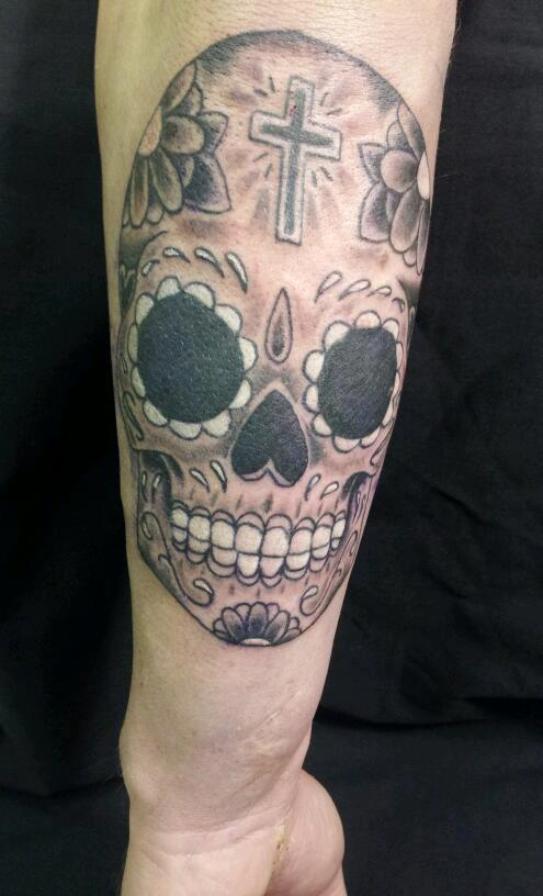 Sugar Skull Tattoo Black And Grey Black and grey sugar skull by