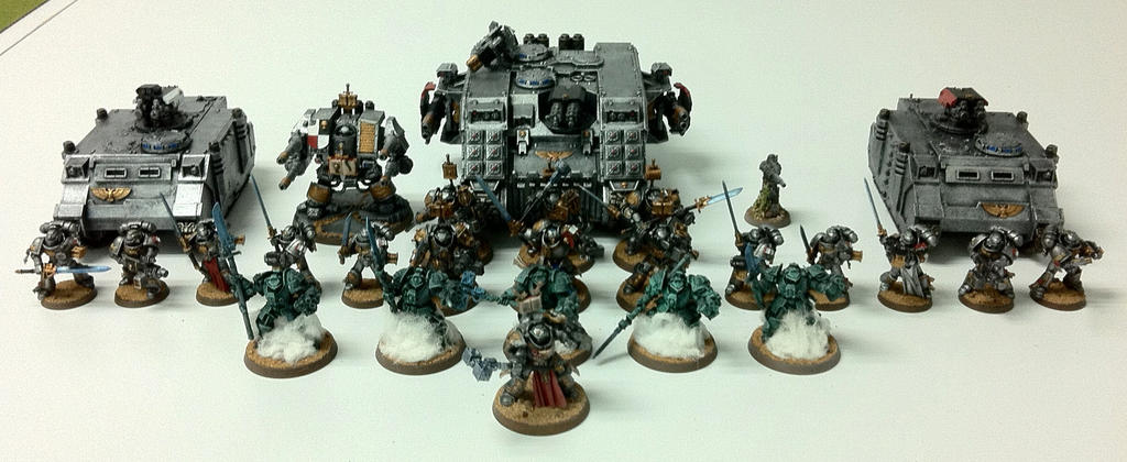 My Grey Knight Army by JaWzY83