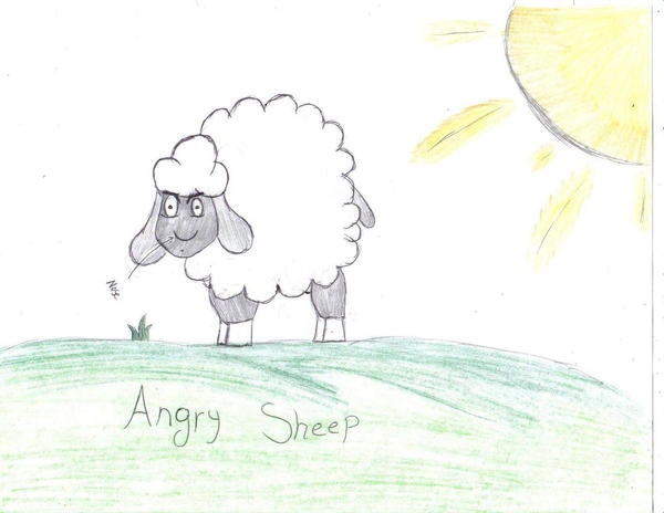 Angry Sheep by MistressInsanity