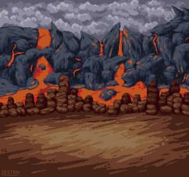 RPG Battleback - Volcano