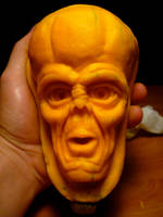 Alien squash sculpt, fall 2012 by DwayneRushfeldt