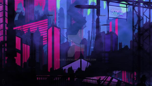 DIGITAL PAINT - Vaporwave / Retro City - 11 Images