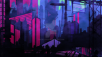 DIGITAL PAINT - Vaporwave / Retro City - 11 Images