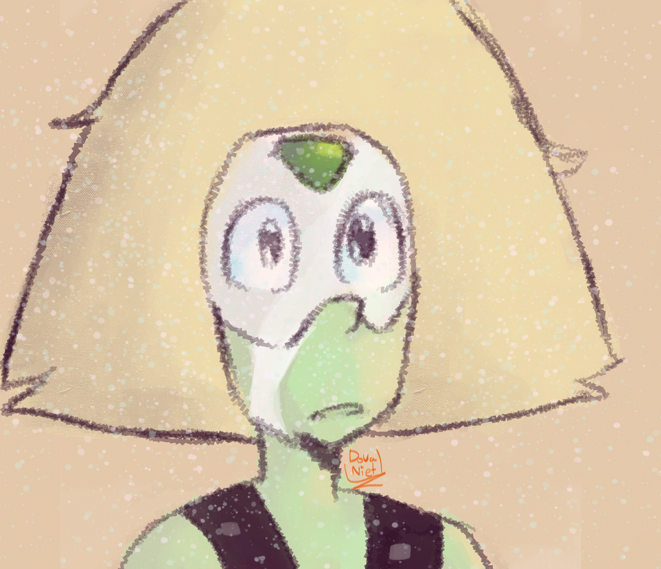 "This is a sketch of everyone's favorite small green space dorito. I made this as like a boredom sketch while listening to ""Peridot in the rain"" and I got my friend who i was skyping to catch me up ..."