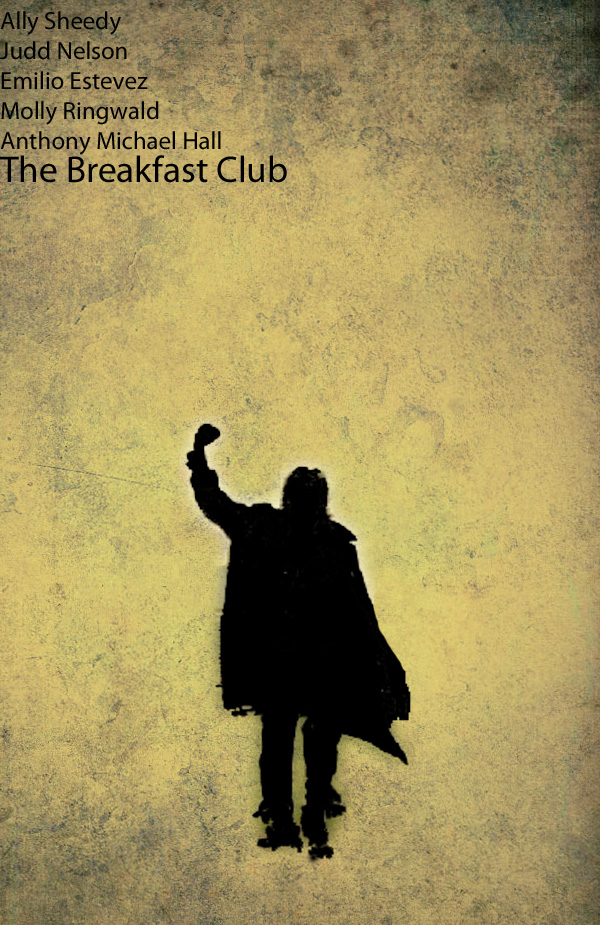 the breakfast club minimalist poster by vikkifosizzle on deviantart. Black Bedroom Furniture Sets. Home Design Ideas