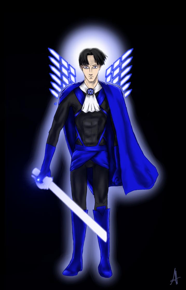 Blue Lantern Levi by Angelia-Dark