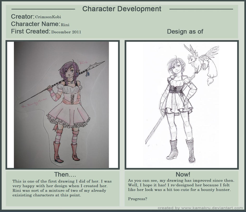 Character Development Meme - Rini by RadSham