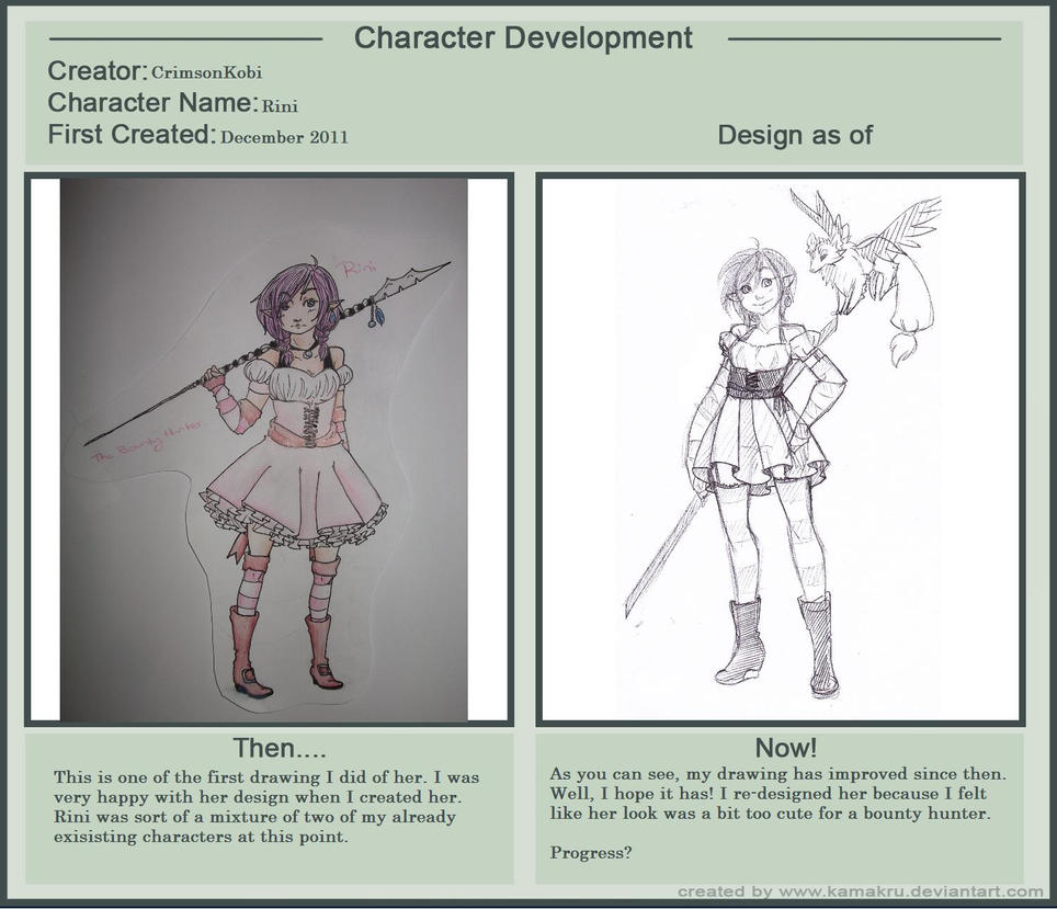 Character Development Meme - Rini by RadSham