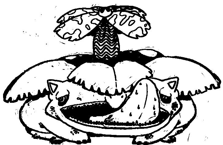 Mega Venusaur Coloring Page