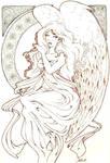 angel art-nouveau