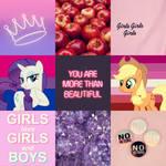 Bi Rarity x Lesbian AJ moodboard
