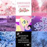 Genderfluid Fluttershy moodboard by BubaIuv