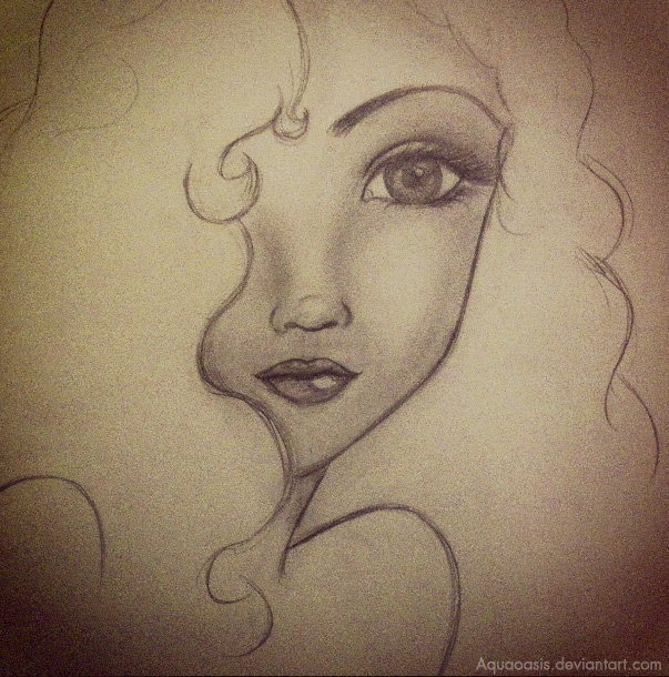 Pretty Girl Sketch By RawSueshii On DeviantArt