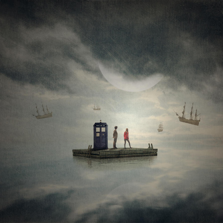 Surreal Doctor Who Painting by TheFirstPictureShow