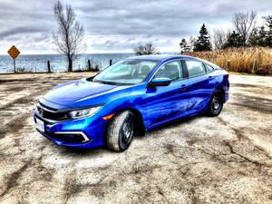 Blue Honda Civic 2019