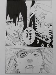 Madara VS Sauske and Naruto Manga Sketch