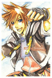 KH2: Sora watercolor by finni