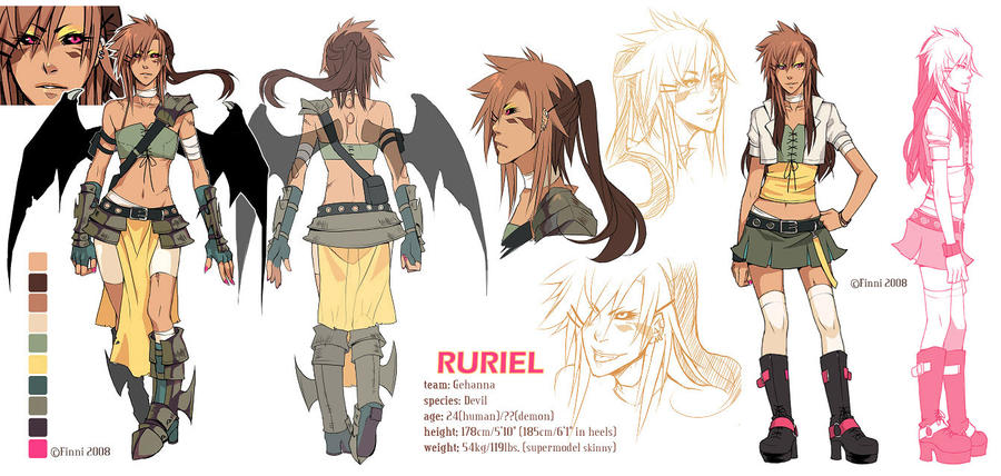 M2012 Ruriel Character Sheet By Finni