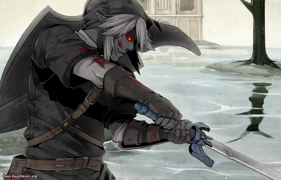 Tuor of Dorthonion [TP Link Schatten] Legend_of_zelda__dark_link_by_finni-d3gc6zz