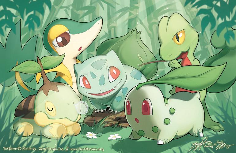 Grass Starter Pokemon Wallpaper PKMN: Grass Starters b...