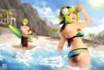 Terri/Torrin -- Summer Splash by finni