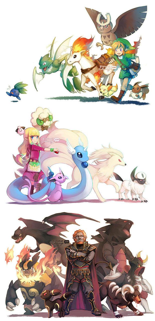 The Legend of Zeldamon by finni