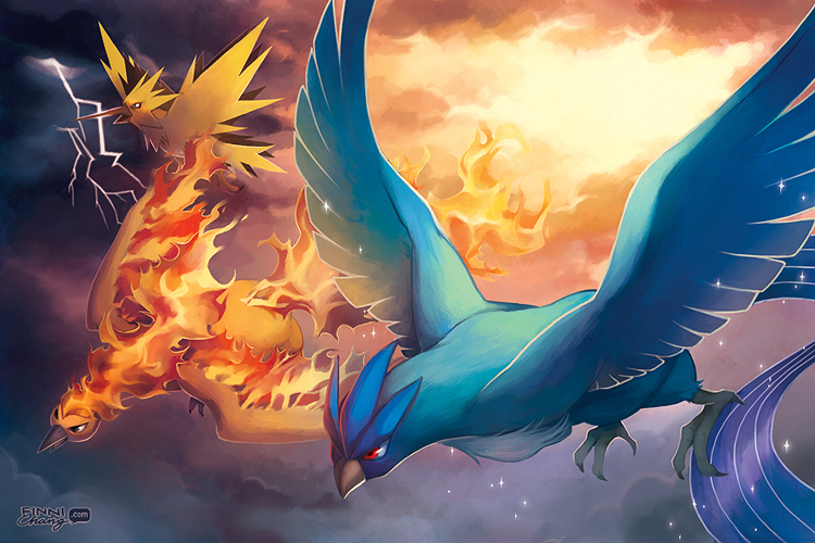 Mega Legendary Birds PKMN Legendary Birds by finni