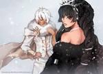 Ivory Baronet and Ebony Debutante by finni