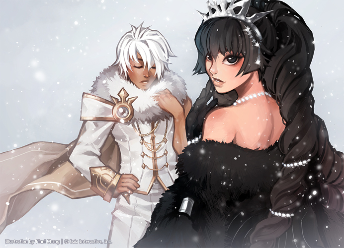 Ivory Baronet and Ebony Debutante by finni
