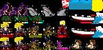 Ocean's Rage videogame sprites by ifes