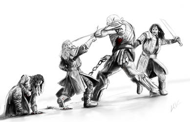 Durins vs Azog by lucife56