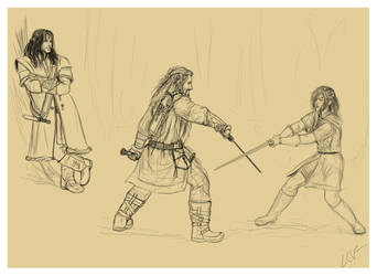 Sword Lesson (wip) by lucife56
