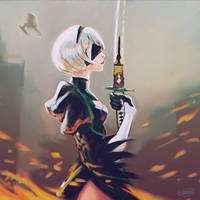 Nier:Automata fanart. by gvaat