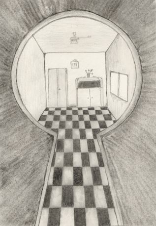 Looking Through A Keyhole By Oswin Drawings On Deviantart