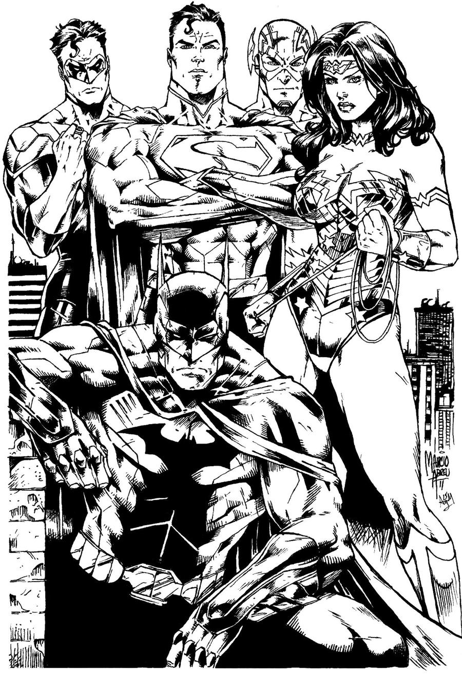 marcio abreu new 52 justice league inks by supermanoftoday on