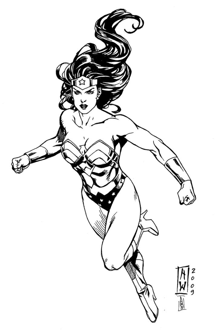 Wonder Woman (Admira Wijaya Inks) by SupermanOfToday