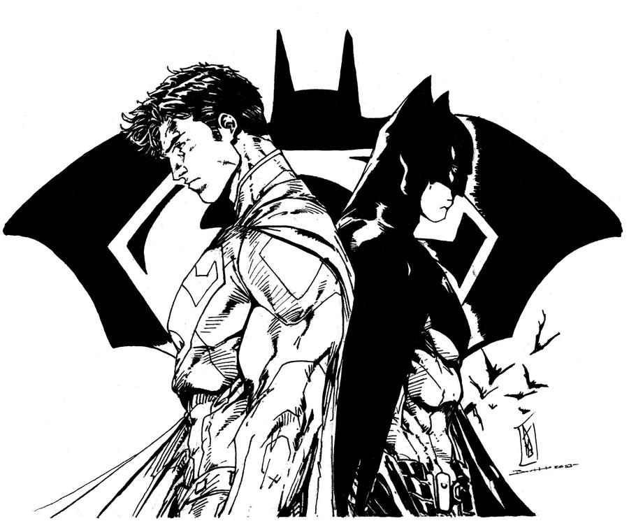 Superman/Batman (Brett Booth Inks) by SupermanOfToday