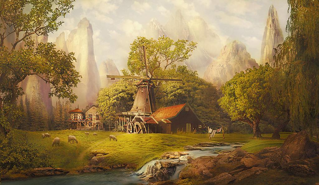 Alpine village by Lotta-Lotos